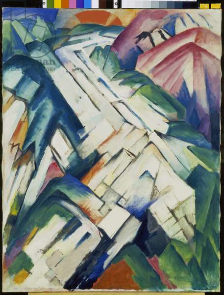 Mountains, 1911-12 (oil on canvas)