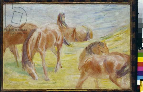 Horses Grazing I, 1910 (oil on canvas)