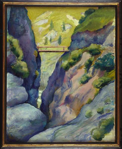 Valley near Tegernsee, 1910 (oil on canvas)