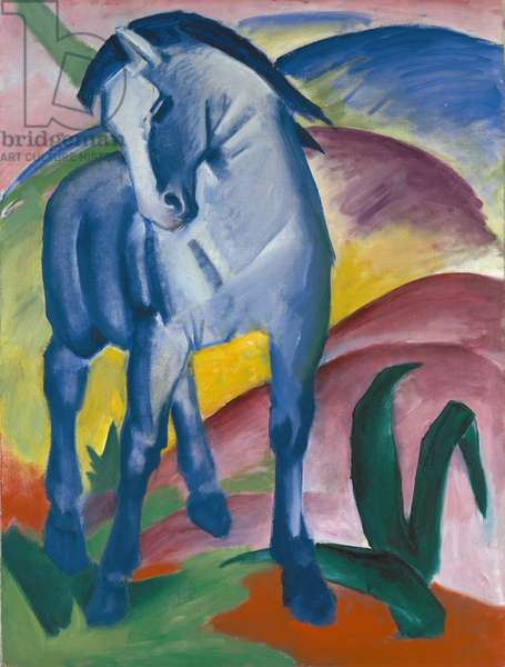 Blue Horse, 1911 (oil on canvas)