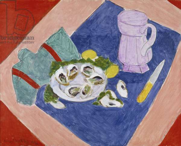 Still Life with Oysters, 1940 (oil on canvas)