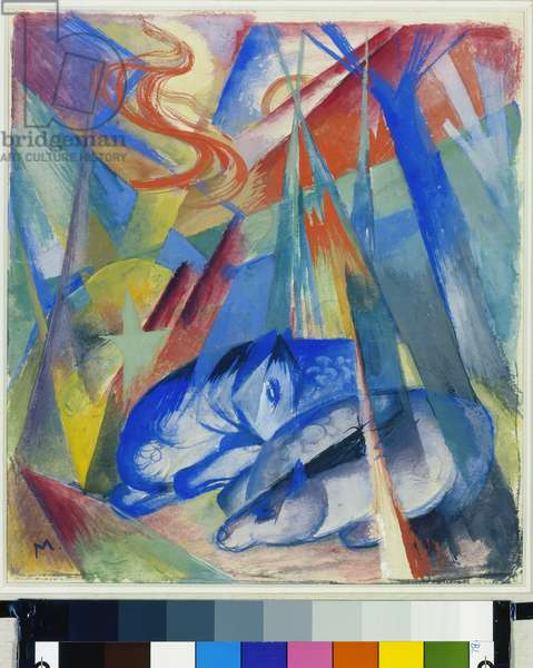 Sleeping Animals, 1913 (tempera on canvas)