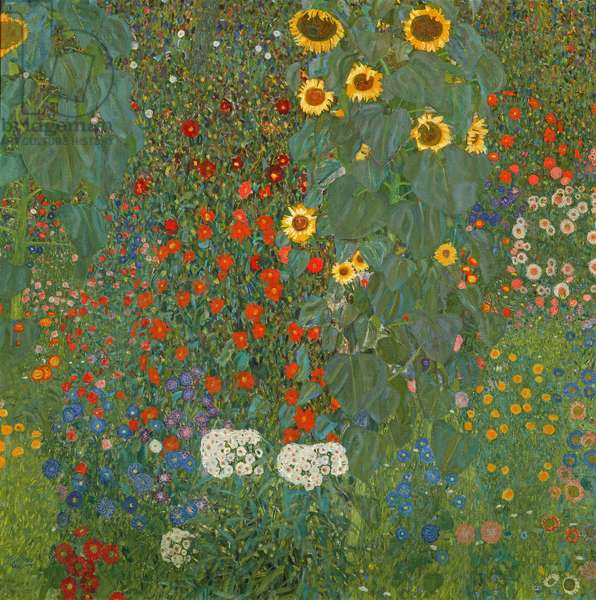 Farm Garden with Sunflowers, 1905-06 (oil on canvas)