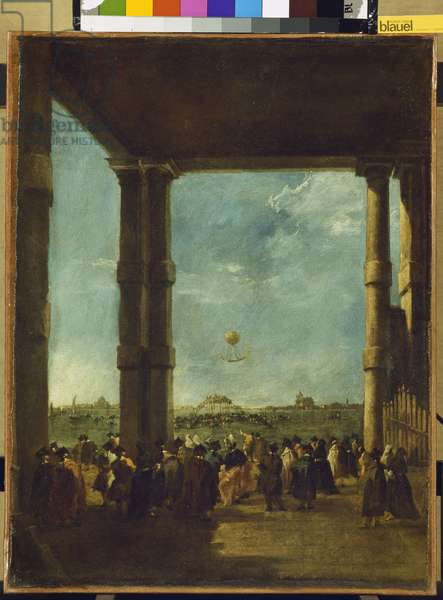 The Balloon Ascent, 1784 (oil on canvas)