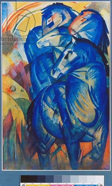 Tower of the Blue Horses, 1913 (colour litho)