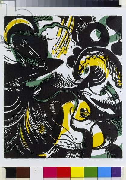 Genesis II, 1913-14 (colour woodblock print)