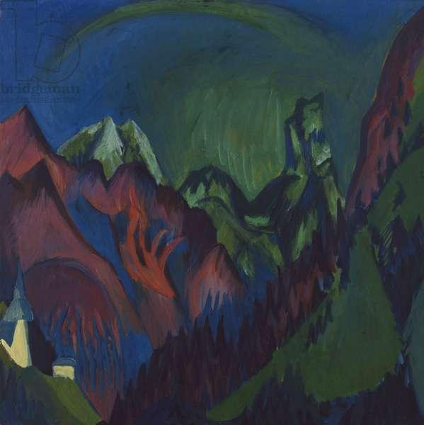 Mount Tizenhorn, the Zugen Ravine near Monstein, 1919-20 (oil on canvas)