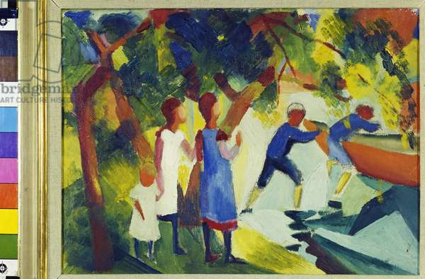 Children in the Water, 1914 (oil on canvas)