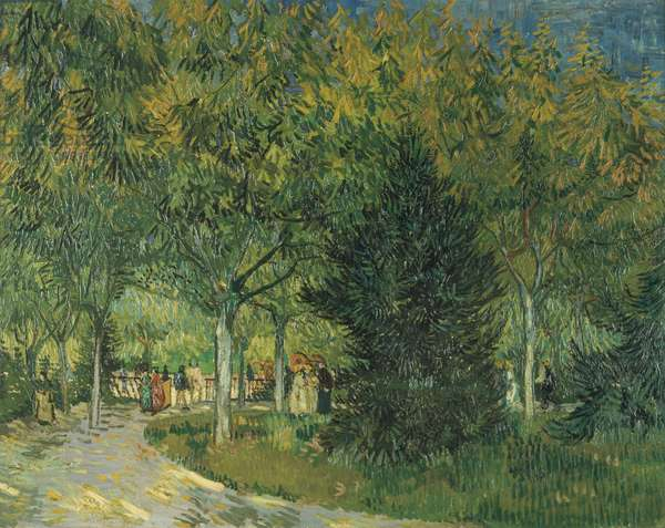 Promenaders, Jardin du Poete, Arles, 1888 (oil on canvas)