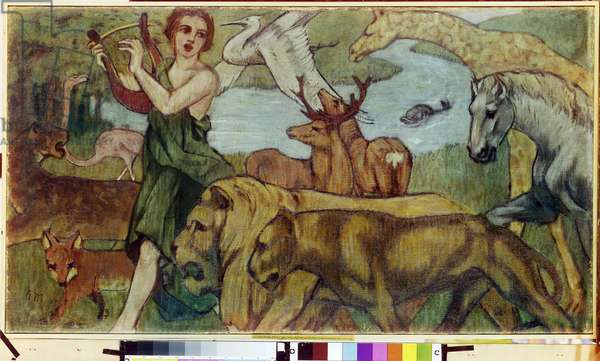 Orpheus and the Animals, 1907 (oil on canvas)