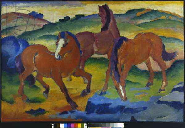 Red Horses (Grazing Horses IV) 1911 (oil on canvas)