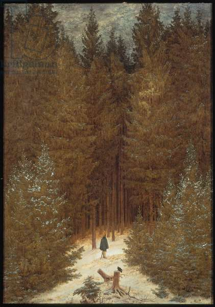 Hunter in the Forest, c.1814 (oil on canvas)