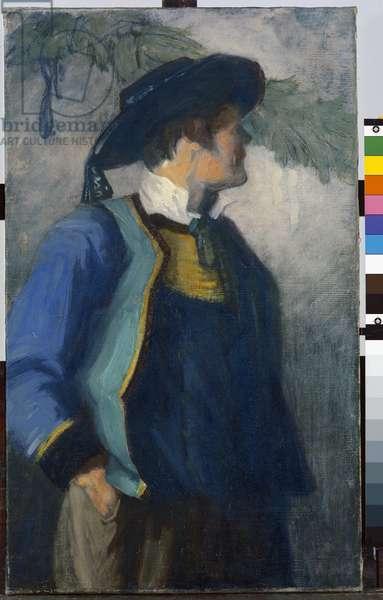 Self-Portrait in Bretonnian Garb, c.1904 (oil on canvas)
