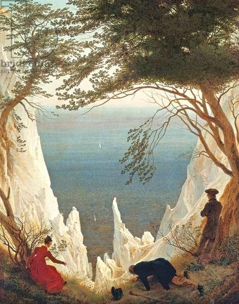 Chalk Cliffs on Rugen, c.1818 (w/c on paper)