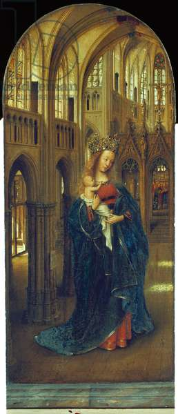 Virgin and Child in a Church, c.1390-1441 (oil on panel)