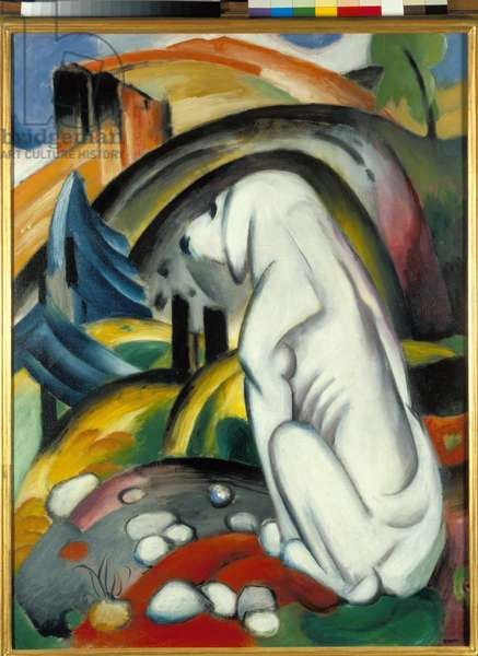 The White Dog, 1912 (oil on canvas)