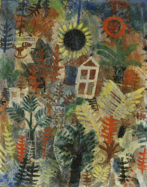 Garden Landscape, 1918 (oil on board)