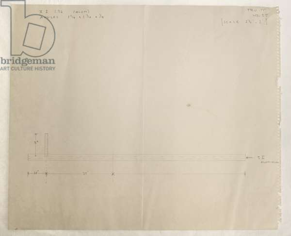Fabrication Drawing No. 55, 1964 (pencil on paper)