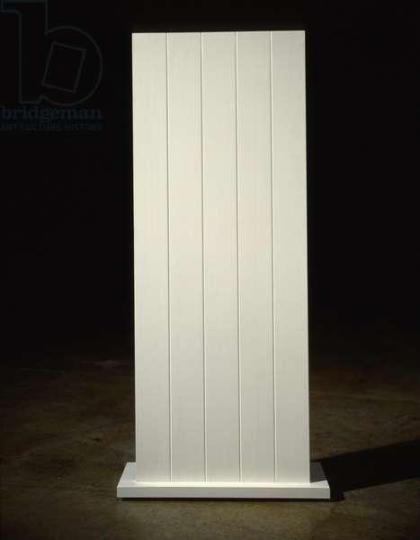 White: Five, 1962 (latex on wood)