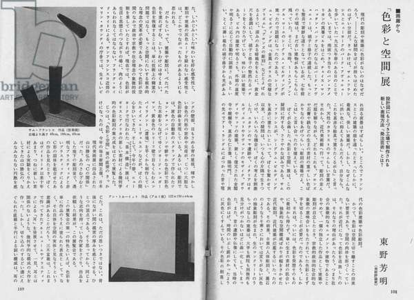 Photograph of Anne Truitt's untitled aluminium sculpture included in 'Colour and Space', 1966 (print)