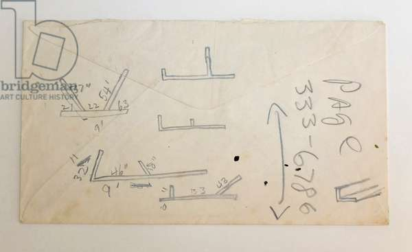Working Drawing, 1963 (pencil on envelope)