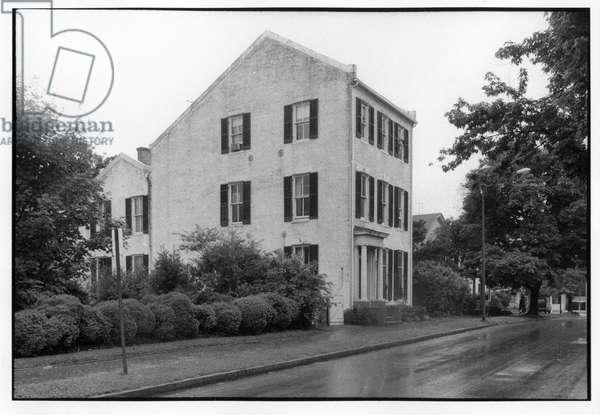 House on South Street, 1975 (b/w photo)