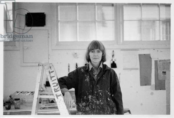 Anne Truitt in her studio, 1978 (b/w photo)