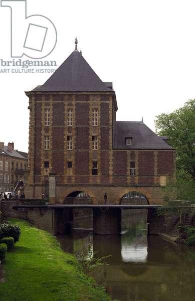 The Arthur Rimbaud museum at the Old Moulin de Charleville Mezieres. Architecture of Clement Metezeau, 17th century.