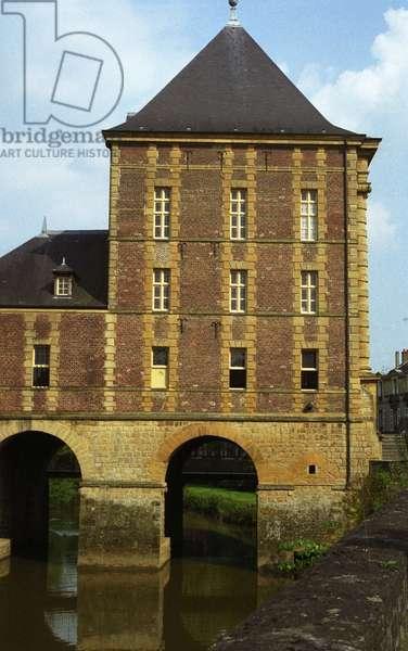 The Arthur Rimbaud museum at the Old Moulin de Charleville Mezieres (Charleville-Mezieres). Architecture of Clement Metezeau, 17th century.
