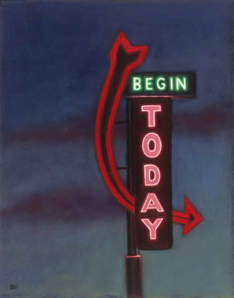 Begin Today, 2009 (oil on canvas)