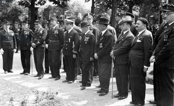 World Congress of Jewish World War I veterans who fought at the Front - commemoration ceremony at Jewish Cemetary (jüdischer Friedhof), Vienna
