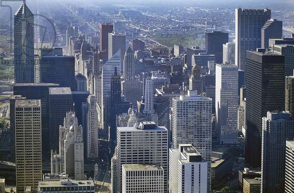 Chicago: Aerial Topographic Views from John Hancock Center, 1995 (photo)