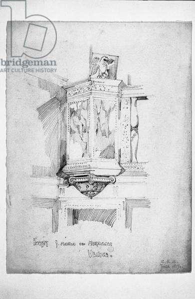 Pulpit, S. Maria dei Miracoli, Venice, 1891 (pencil on paper)