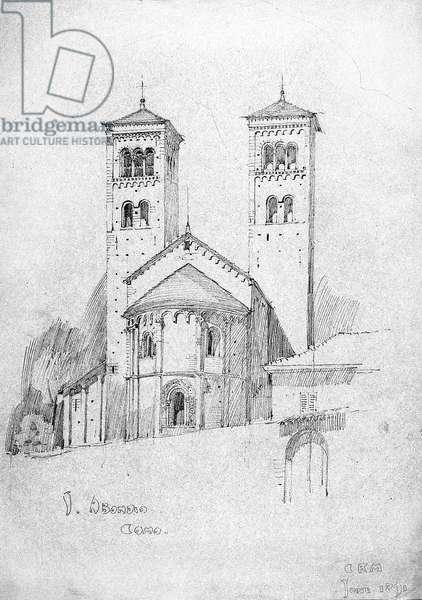 S. Abondio, Como, 1891 (pencil on paper)