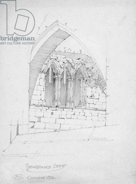 Sweetheart Abbey, 1892 (pencil on paper)
