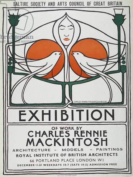 Poster: The Scottish Musical Review, 1953 reproduction after 1896 original (color lithograph)