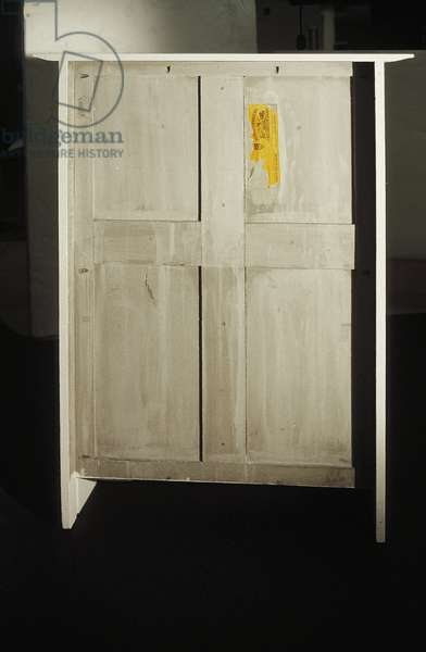White cabinet designed for Mrs. Rowat, 1902 (wood, stained glass, enamel)