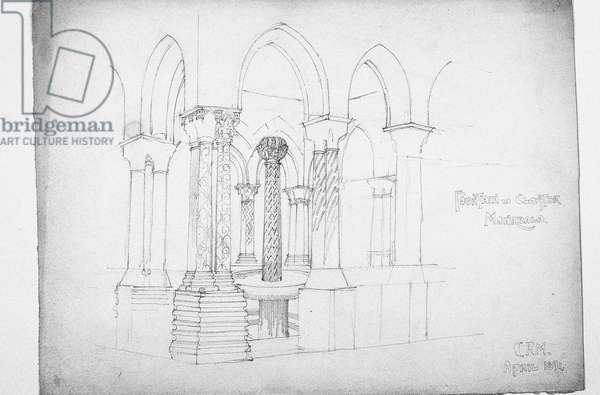 Fountain in Cloister, Monreale, 1891 (pencil on paper)
