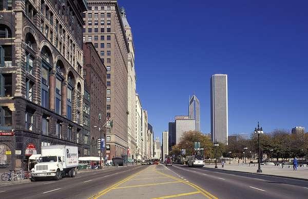 Chicago: Topographic Views, Michigan Avenue, 1995 (photo)