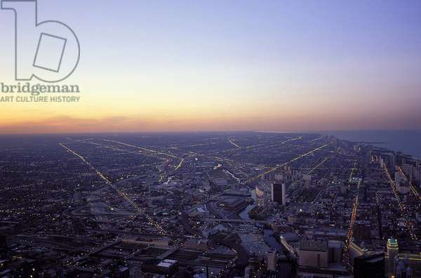 Chicago: Aerial Topographic Views from Sears Tower, 1995 (photo)