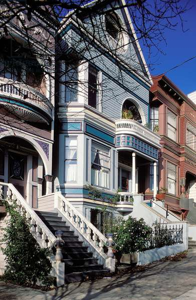 Victorian Houses of San Francisco, Topographic Views, c.1999 (photo)