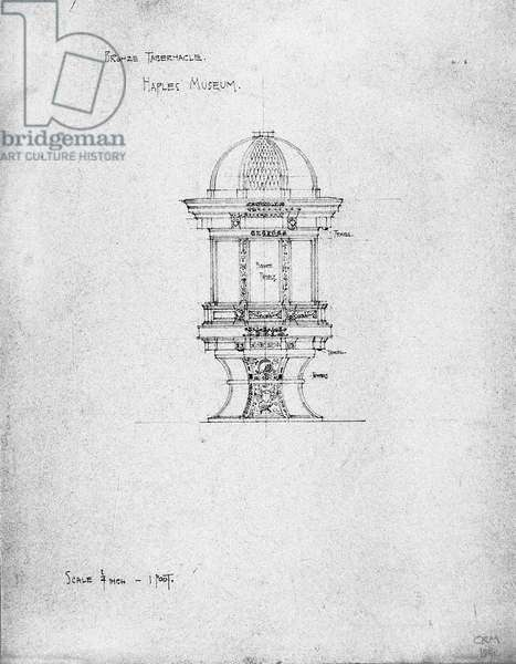 Bronze Tabernacle, Naples Museum, 1891 (pencil on paper)