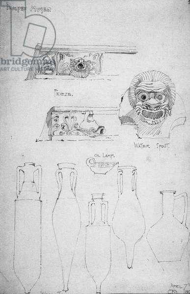 Pompeii Museo, 1890 [1891], Pencil (pencil on paper)