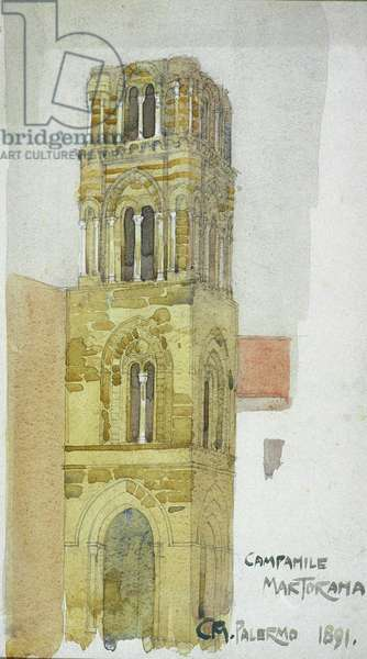 Campanile Martorama, Palermo, 1891 (pencil and watercolor)