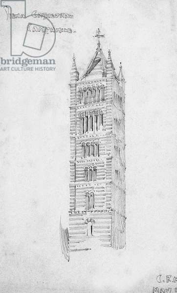 Siena Cathedral, Campanile, 1891 (pencil on paper)