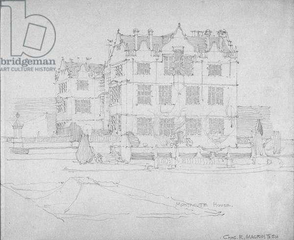 Montacute House, c.1893-1920 (pencil on paper)