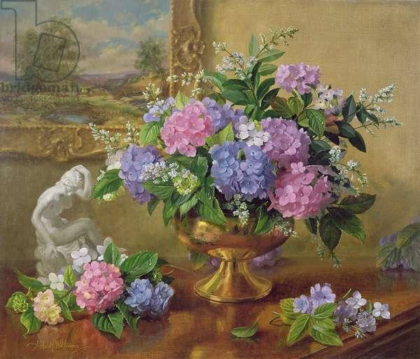 AB211B Still Life of Hydrangeas and Lilacs