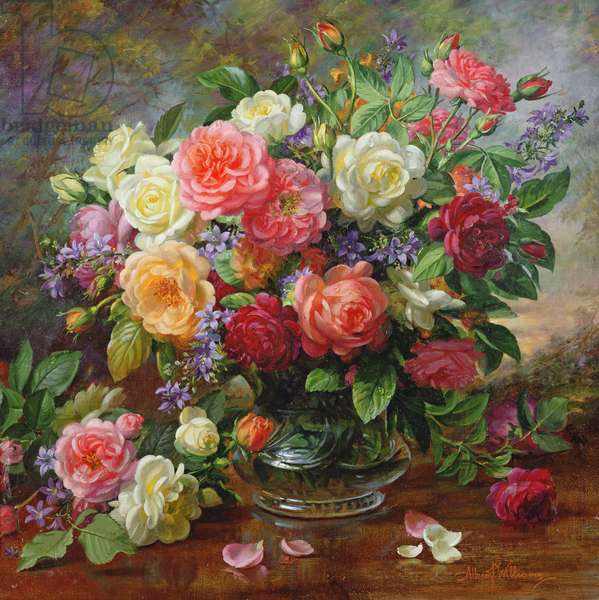 Roses - The Perfection of Summer (oil on canvas)