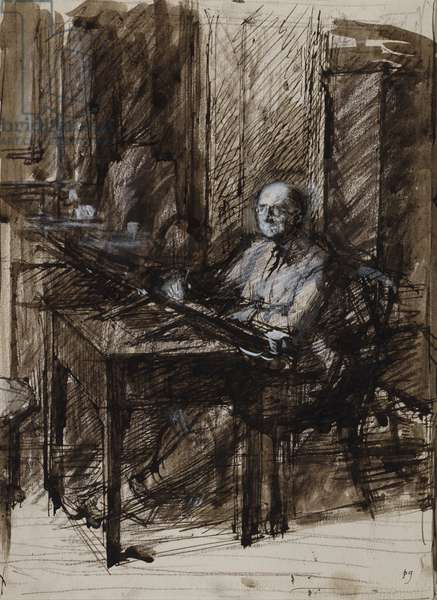 Eric Hesketh Hubbard (1892-1957) (charcoal, pen and gouache on paper)