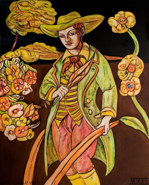 Ploughman Poet, 2012 (oil on canvas)